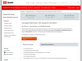 deutsche bahn zum sparpreis ab 29 euro durch deutschland reisen zu zweit ab 48 euro. Black Bedroom Furniture Sets. Home Design Ideas