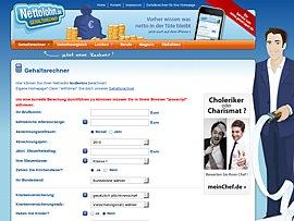 Gehaltsrechner und -vergleich von Nettolohn.de kostenlos für Eure Webseite