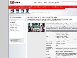 OstseeTicket der Deutschen Bahn - Meer und mehr ab 41 Euro