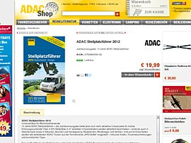 ADAC Stellplatz-F&uuml;hrer Deutschland/Europa 2012 zeigt, wo Ihr g&uuml;nstig &uuml;bernachten k&ouml;nnt