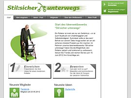 Ideenwettbewerb - Mit dem Rollator der Zukunft stilsicher unterwegs