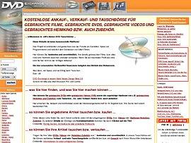 Kostenlose Tausch- und Verkaufbörse für DVDs, Videos und Zubehör