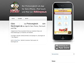 Preisvergleich per iPhone - Geizkragen Preisvergleich bietet iGeiz als App für das iPhone