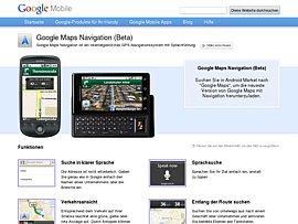 Navigation per Handy mit der neuen kostenlosen Naviagtionssoftware von Google