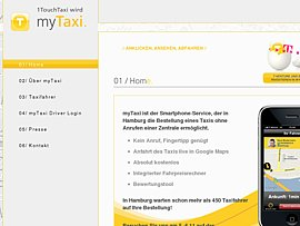 Taxi jederzeit und &uuml;berall - myTaxi App kostenlos f&uuml;rs Smartphone