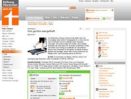 heimtrainer laufb nder und crosstrainer von stiftung. Black Bedroom Furniture Sets. Home Design Ideas