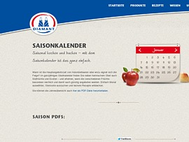 Saisonkalender f&uuml;r Obst mit fruchtigen Rezepten zum kostenlosen Download