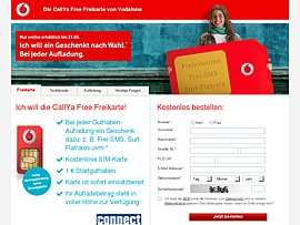 Kostenlose Freikarte von Vodafone
