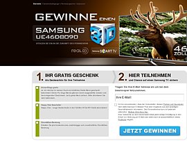 Samsung 3D Fernseher mit 46 Zoll im Wert von 2.500 Euro gewinnen