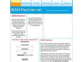 IBAN Rechner berechnet IBAN aus Kontonummer und Bankleitzahl  IBAN Rechner be...