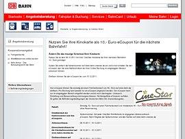cinestar kinokarte 10 euro ecoupons f r die n chste fahrt mit der deutschen bahn. Black Bedroom Furniture Sets. Home Design Ideas