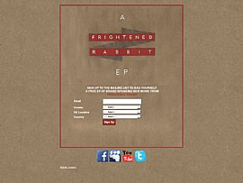 Kostenlose EP der schottischen Indie-Rockband Frightened Rabbit