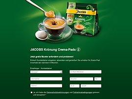 Gratis JACOBS Kr&ouml;nung Crema-Pads