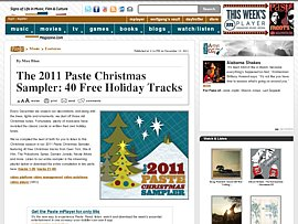 40 Weihnachtssongs zum kostenlosen Download - The 2011 Paste Christmas Sampler
