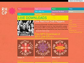 Red Hot Chili Peppers - Fünf Tracks kostenlos downloaden