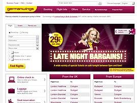 Germanwings Late-Night-Schnäppchen -  Billigflüge ab 29,99 Euro