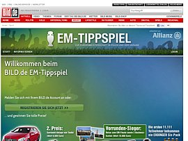 BILD.de startet EM-Tippspiel  - 66.666 Flaschen Erdinger Wei&szlig;bier f&uuml;r die ersten 11.111 Mitspieler