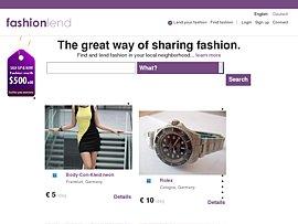 Kleidung leihen und verleihen bei Fashionlend