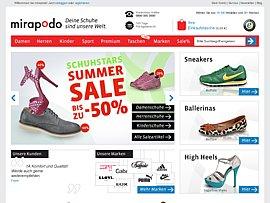 AMBJUNI10E: Der Code für günstige Schuhe bei Mirapodo