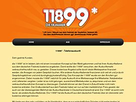 Kostenlose Auskunft 11899 ist jetzt kostenpflichtig