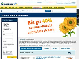 Sommerurlaub - 40 Prozent Sommer-Rabatt und 100 Euro Reise-Gutschein