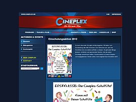 Cineplex Einschulungsaktion 2012 - Schult&uuml;ten kostenlos mit &Uuml;berraschungen bef&uuml;llen lassen