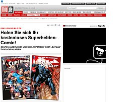 "Bild.de und Panini verschenken Comics - ""Superman 1"" oder ""Batman – The Dark Knight 1"""
