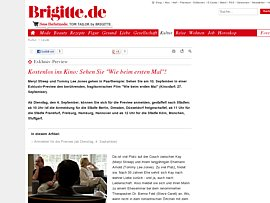 Kostenlos ins Kino - Brigitte l&auml;dt in die Tragikom&ouml;die &quot;Wie beim ersten Mal&quot; ein