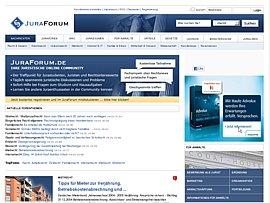 Umfangreiches Recht-Portal: Juraforum.de