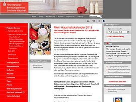 Mein Haushaltskalender 2013 kostenlos bei der Sparkasse bestellen