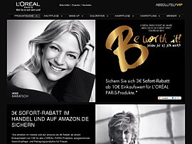 L'Oréal Paris spendiert 3 Euro Rabatt-Coupon