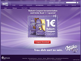Mit Milka Coupon 1 Euro beim Kauf von Milka Crispello sparen