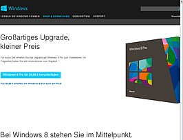 Windows 8 Pro Upgrade f&uuml;r knapp 30 Euro zum Download und Media Center Pack gratis