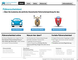 F&uuml;hrerscheintestonline - Online f&uuml;r die Theoretische F&uuml;hrerscheinpr&uuml;fung lernen