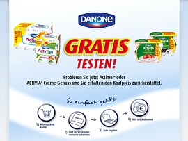 danone gratis testen aktion actimel und activia creme genuss kostenlos probieren. Black Bedroom Furniture Sets. Home Design Ideas