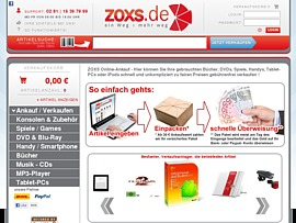 zoxs - Ankauf-Portal für Spiele, Bücher und DVDs