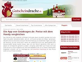 iGeiz - Gutscheindrache stellt mobilen Preisvergleich von Geizkragen.de per Video vor