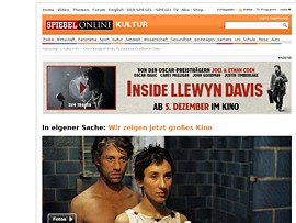 Spiegel tv zeigt gro es kino jedes wochenende kostenlos for Download spiegel tv