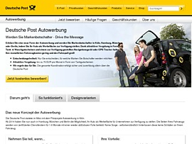 deutsche post startet autowerbung geld verdienen mit. Black Bedroom Furniture Sets. Home Design Ideas