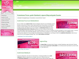 Kostenlos f&uuml;r Eure Homepage: Foren, G&auml;steb&uuml;cher, Counter und Designs
