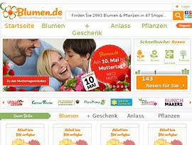 Blumen.de  - Per Preisvergleich beim Online-Kauf von Blumen sparen