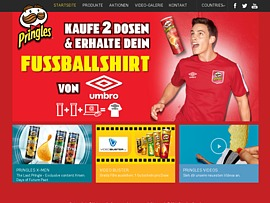magazin gratiszugaben bei bestellung pringles pringoooals aktion fussballshirt umbro