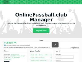 OnlineFussball.club Browsergame - Managt Euren eigenen Fussballverein