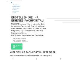 Mein-Listo - Kostenlos eigenes Fachportal online erstellen