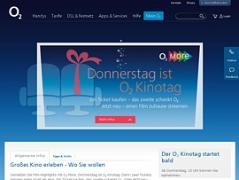 o2 spendiert Kunden zweites Kinoticket - Donnerstag ist Kinotag