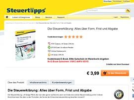 """Steuertipps.de bietet gratis E-Book """"Die Steuererklärung: Alles über Form, Frist und Abgabe"""""""