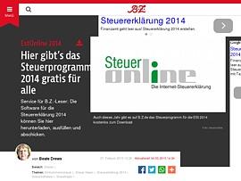 estonline 2014 b z berlin bietet steuerprogramm 2014 zum gratis download. Black Bedroom Furniture Sets. Home Design Ideas