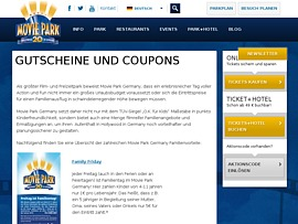 Movie Park Germany Gutscheine - Spar-Coupons für Eintritt, Gastronomie & Souvenirs
