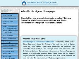 Meine erste Homepage - Eigene Webseite leicht selbst erstellen
