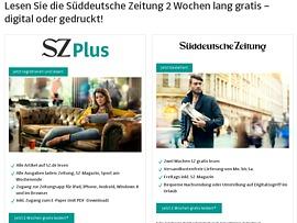 Süddeutsche Zeitung zwei Wochen gratis - digital oder gedruckt